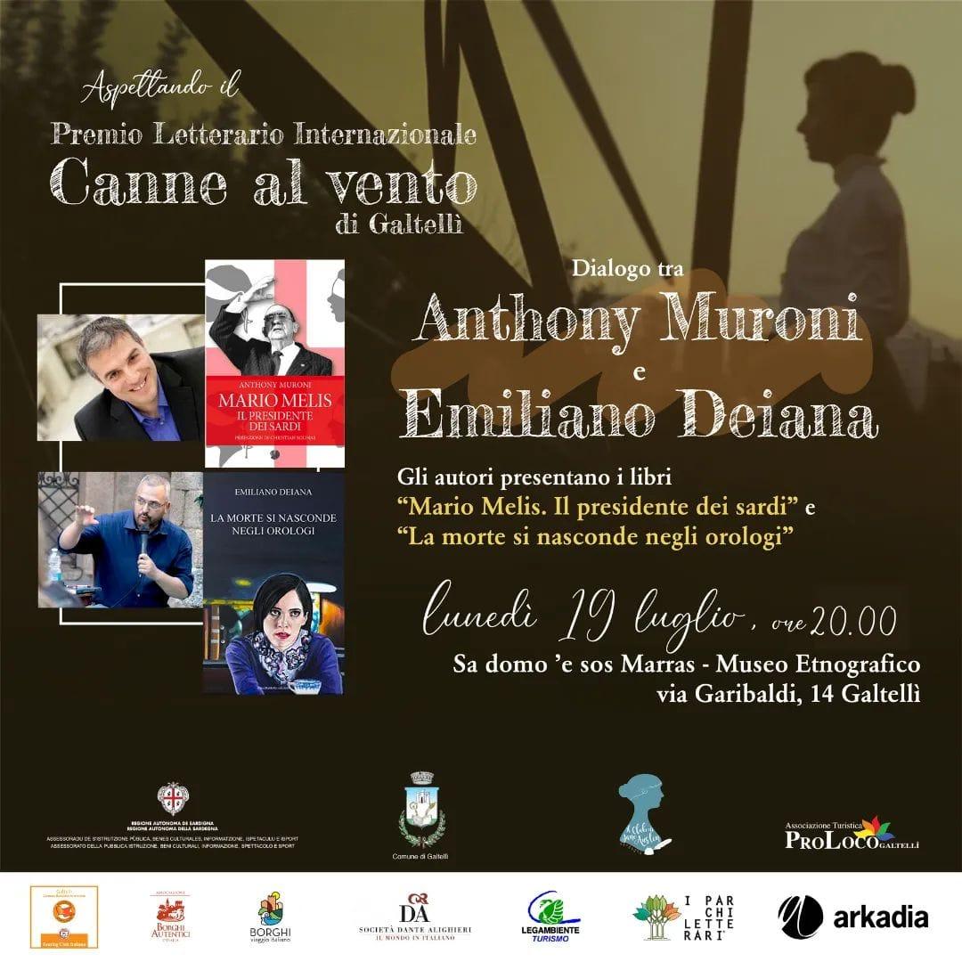 Anthony Muroni e Emiliano Deiana a Galtellì